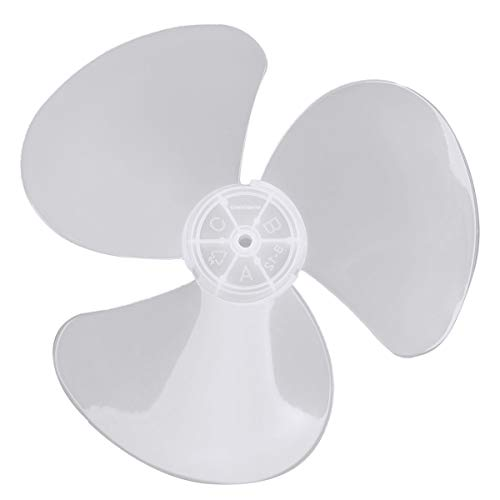 CHICTRY 12 Inch Fan Blade 3 Leaves Plastic Fan Blade Replacement for Household Standing Pedestal Fan Table Fanner General Accessories White One Size ()