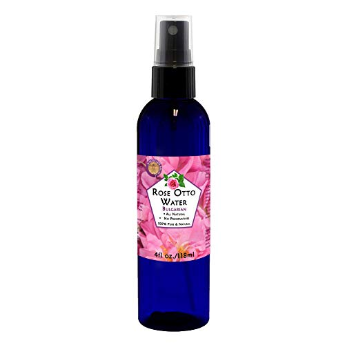 (100% Pure Rose Water Hydrosol Hydrating Spray Toner and Balancing Mist for your Face. Finest Bulgarian Rose Otto – Rose Damascena – Quality Therapeutic Grade 4oz.)