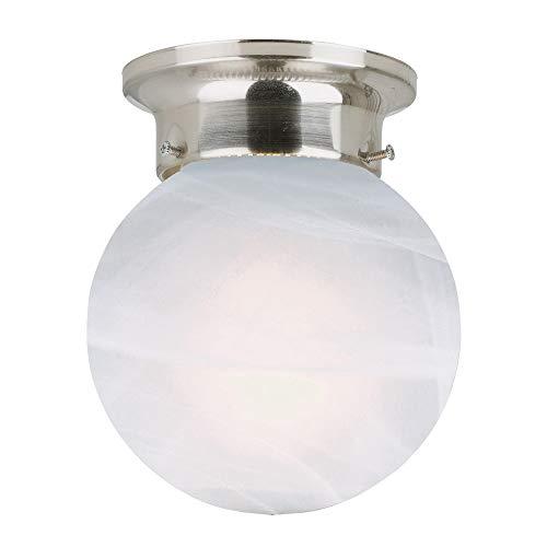 Design House 511592 Millbridge 1 Light Ceiling Light, Satin Nickel (Satin Light Ceiling Light)