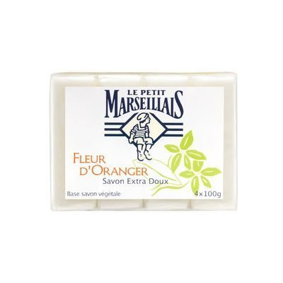 Le Petit Marseillais Bath and Body 4 Soaps (4 Barsx100g=400g) (Orange Blossom (Fleur d'oranger))