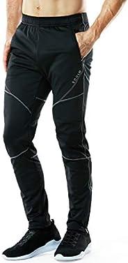 TSLA Men's Running Pants Windproof Thermal Fleece Sweatpants 4 Jogging &