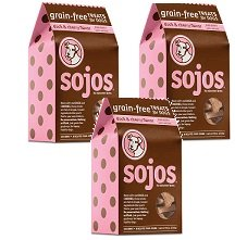 (3 Pack) Sojos Duck and Cherry Crunchy Natural Grain Free Dog Treats, 10 Ounces each