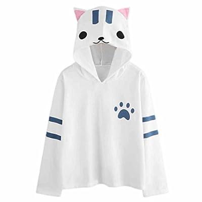Ankola Women Teen Girls Fashion Cat Ears Cute Hoodie Sweatshirt Hooded Pullover Tops Blouse