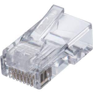 Ideal 85-372 CAT5e Feed-Thru RJ-45 Modular Plugs 100/Bag