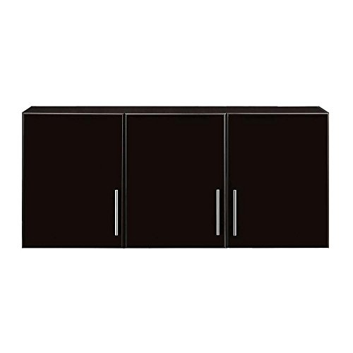 Wall Cabinet 24 in. with 3-Door and Adjustable Shelves in Espresso Finish by Hampton Bay