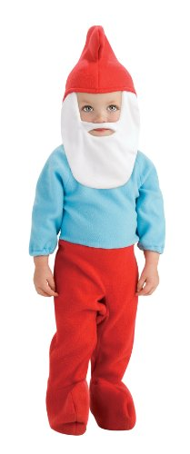 Smurfette Halloween Costume Toddler (The Smurfs Movie Romper Costume, Papa Smurf, Toddler Size)