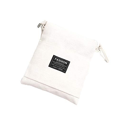 S.Charma Borsa Fashion Bag borsa canvas multicolored Candy monospalla Messenger bag zip tessuto morbido Colore della caramella Bianco