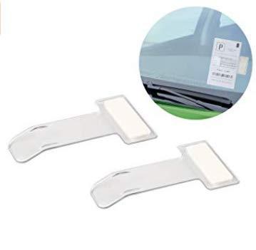 Vektenxi Kunststoff Auto Ticket Ordner Windschutzscheibe Fenster Parkausweise Ticket Clip f/ür Inhaber Vermeiden Sie Parkgeb/ühren klar 16PCS stilvoll