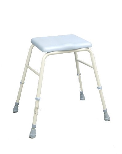 NRS Healthcare L35555 Polyurethane Perching Stool - Height Adjustable (Eligible for VAT relief in the UK) by NRS Healthcare