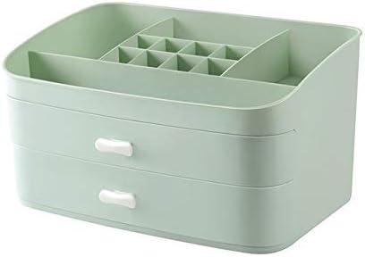 ZHAS Caja de Almacenamiento de cosméticos Organizador de cosméticos de plástico Caja de Almacenamiento Contenedor de cajones de Maquillaje Caja de joyería Contenedor de ataúdes Contenedor de artí