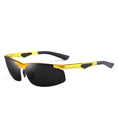 Marco Gafas MXNET Aluminio de Sol Gafas Sol Gafas visión magnesio para Gafas de de Nocturna Adultos de conducción para 3 de Deportes Hombres polarizados Sol UV400 de sin Color de 5 Pesca 6Px4wqr6