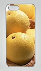 Beautiful Pear In the Basket DIY Hard Shell Transparent iphone 5/5s Case Perfect By Custom Service
