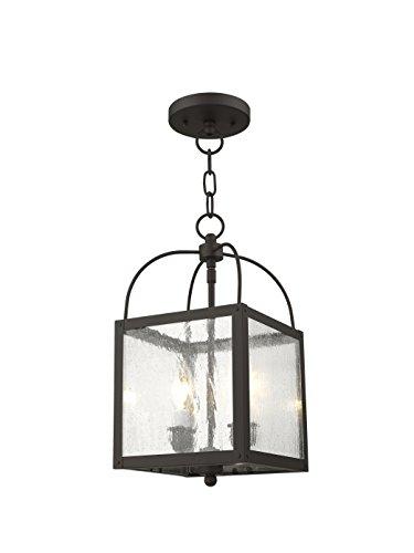 - Livex Lighting 4045-07 Milford 2-Light Convertible Hanging Lantern/Ceiling Mount, Bronze