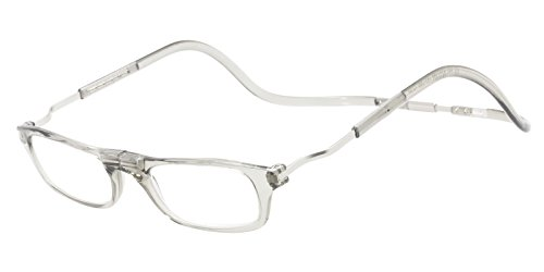 (CliC Reader XXL Single Vision Half Frame Designer Reading Glasses, Smoke, +3.00)