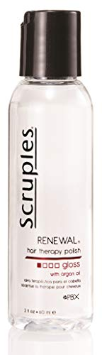 Scruples Renewal Hair Therapy Polish 2 fl. oz 60 ml – Hair Polisher Repair Serum with Argon Oil – Restores Dry Hair Adds Shine Alcohol Free – Suitable for All Hair Types Pack of 3