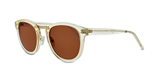 Smoke X Mirrors Crossroad Unisex Sunglasses SM102 Based in New York City, Handmade in France (Vintage Crystal - Matte Gold, - Vintage York New Sunglasses