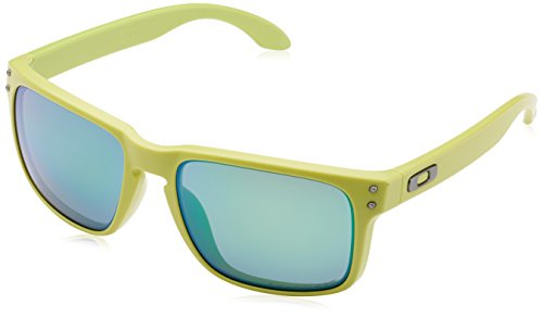 Oakley  Men's Holbrook Matte Fern W/ Jade Iridium Polarized - Iridium Polarized Jade