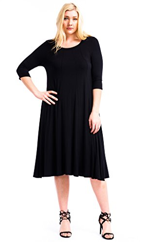 Black maxi dresses for women plus size