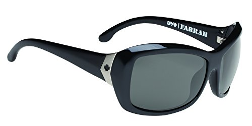 Spy Optic Womens Farrah 673011062035 Polarized Round Sunglasses,Black Frame/Grey Polarized Lens,One Size