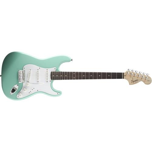 T-shirt Large Cd (Squier by Fender Affinity Stratocaster Beginner Electric Guitar - Rosewood Fingerboard, Surf Green)