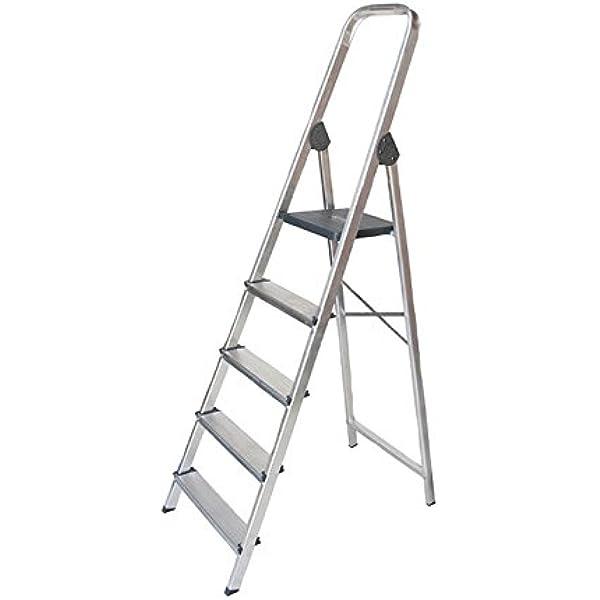 WURKO 8421446233036 - Escalera aluminio 3 peldaños hogar: Amazon ...