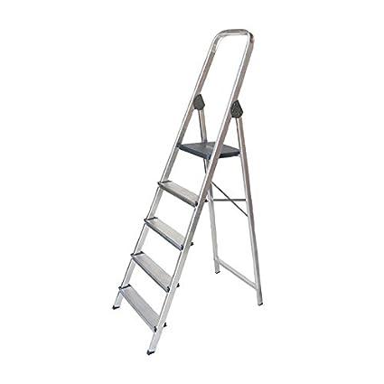 WURKO 8421446233036 - Escalera aluminio 3 peldaños hogar