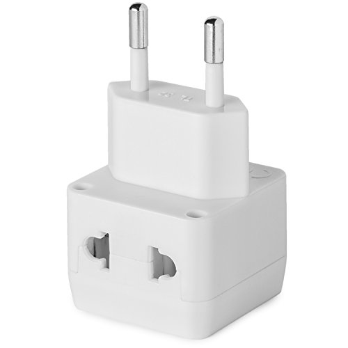 cc24c5ba69cd9 European Plug Adapter by Yubi Power 2 in 1 Universal Travel Adapter with 2  Universal Outlets ...