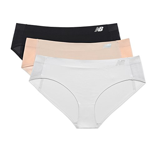 New Balance Womens Hybrid Soft Jersey mesh Panels Hipster Underwear (Pack of 3)