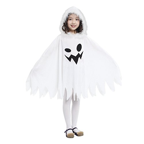 Jimall Girls Halloween Costumes Ghost Scary Fanny Dress 7-9 Years -