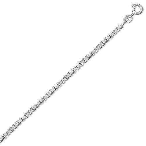 045 Extra Heavy Box Chain (925 Sterling Silver 24 Inch 045 Extra Heavy Box Chain Necklace - 2.4mm Wide)