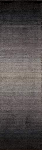 Momeni Rugs METROMT-12MBK2380 Metro Collection, 100% Wool Hand Loomed Contemporary Area Rug, 2'3