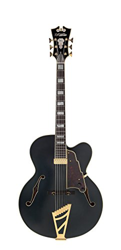 D'Angelico Deluxe EXL-1 Hollow-Body Electric Guitar – Matte Midnight