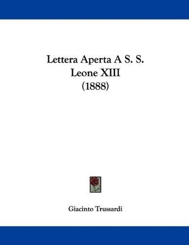 lettera-aperta-a-s-s-leone-xiii-1888-italian-edition