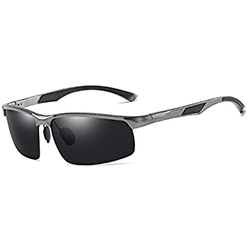 DYJHSD Aluminio Marca Hombres Gafas de Sol HD Lentes ...