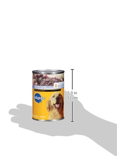 Pedigree Chopped Ground Dinner Combo With Chicken, Beef & Liver Adult Canned Wet Dog Food, (12) 22 Oz. Cans