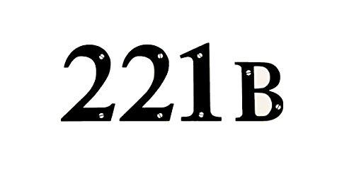 221B Baker Street Sherlock Black Decal Vinyl Sticker|Cars Trucks Vans Walls Laptop| Black |5.5 x 2 (Kids 100 Year Old Costume)