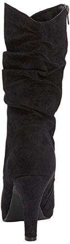 Jane Klain 255 727 - botas de terciopelo mujer negro - Schwarz (Black 008)