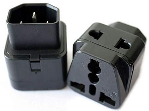 ELECTRONIC-MEI 2 in 1 IEC 320 C14 Male to C13 Female Power Adapter PDU/UPS C13 Universal Female AU/US/UK/EU Special Conversion Plug