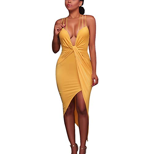 Women Summer Dress,Qingell Pure Color Sleeveless Tight Fitting