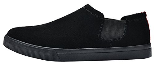 Salabobo QYY-6061 New Mens Casual Leather Comfy Smart Cozy Slip On Driving Shoes Black UK Size6 UfnWWP