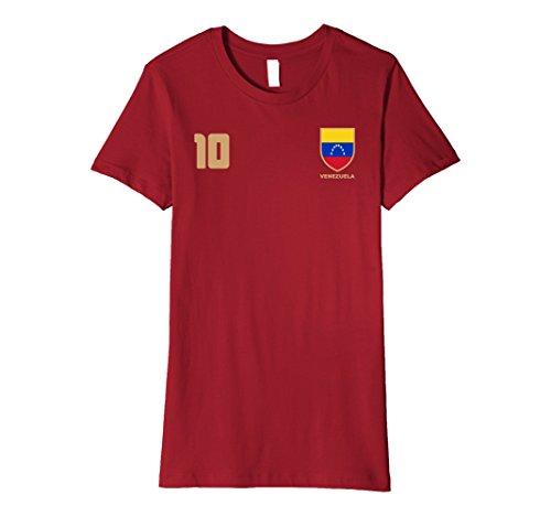 Venezuela Soccer Jersey (Womens Venezuela Futbol Soccer Jersey T-Shirt Medium Cranberry)