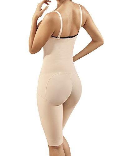 Moldeate 12005 Push UP and Tummy Control Shapewear with Convertible Straps Long Legs