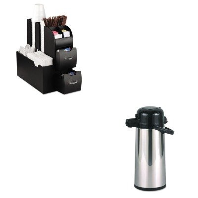 KITEMSCAD01BLKHORPAE22B - Value Kit - Hormel Commercial Grade 2.2L Airpot (HORPAE22B) and Ems Mind Reader Llc Coffee Organizer (EMSCAD01BLK) by Hormel