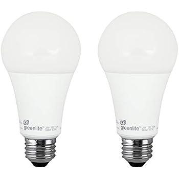 A21 LED Light Bulb, 20W, (120W Equivalent), 2150 Lumens, 3000K Bright White, Dimmable, E26 Medium Base, 120V, (2 Pack)