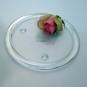 1 posavasos de cristal con reborde gigajump D 20 cm transparente