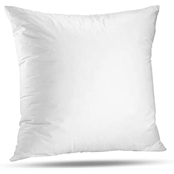 """LuxyFluff Faux down, Synthetic Down, Square Decorative Throw Pillow Insert, Sham Stuffer, 16"""" X 16"""" - MADE IN USA"""
