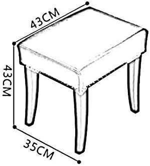 YUMUO Pouf rembourré Retro RectaTabouret rectangulaire pour canapé en Bois Massif (Couleur: # 5)