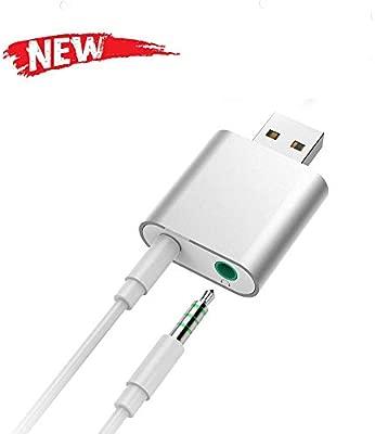 Teepao - Tarjeta de Sonido USB 7.1, Adaptador de Sonido ...