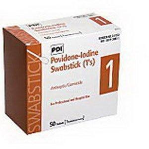 PYS41350 - Pdi Inc. PVP Iodine Prep 10% USP Swabstick, 4 (Swabsticks Pvp)