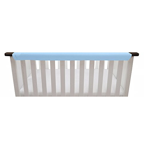 Go Mama Go Organic Teething Guard Protects Baby and Crib, Blue/White, 52'' x 6'' by Go Mama Go